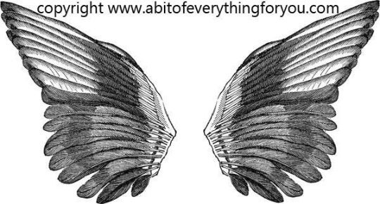 photo about Printable Angel Wings identify printable angel wings fairy chook wings clip artwork printable