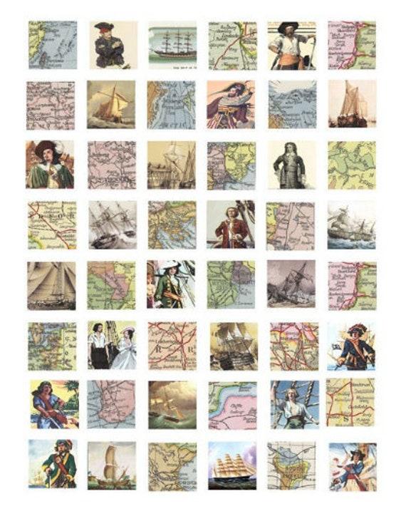 vintage world maps clipart digital download collage sheet 1 inch squares vintage images pendant jewelry making printables
