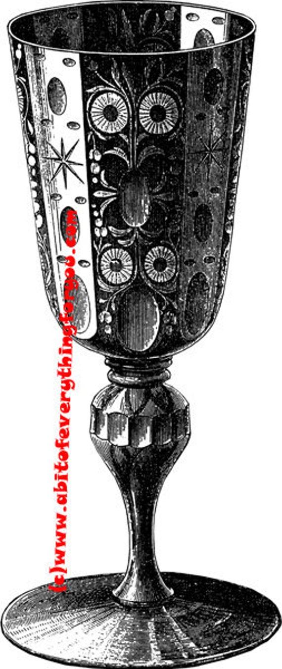 antique wine goblet printable art illustration clipart png download digital image graphics digital stamp black and white