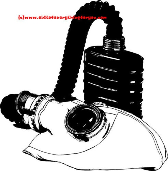 war gas mask printable art print clipart png jpg instant download digital image graphics digital stamp black and white