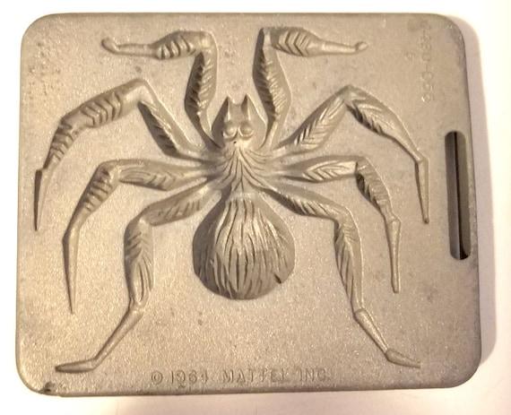 creepy crawler spider tarantula mold metal bug insect vintage toys mattel 1964