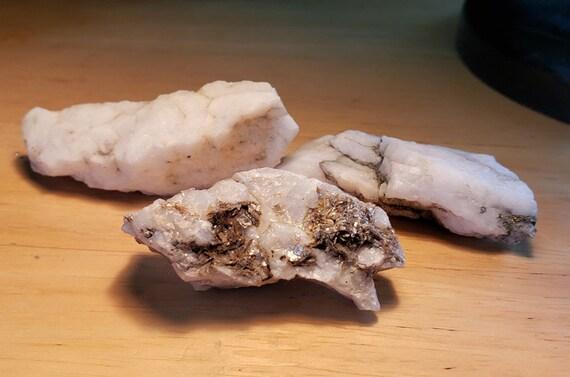 white milky snow Quartz crystal Rocks 3 nuggets stones gemstone Montana raw snow quartz rocks minerals jewelry diy crafts