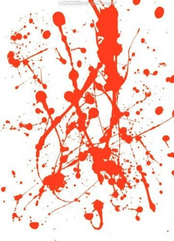 red blood paint drips spatter clipart png jpg Digital Download art printable abstract art Image graphics liquid drops art downloadable