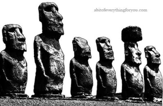 easter island head statues printable art clipart png download digital image graphics world travel