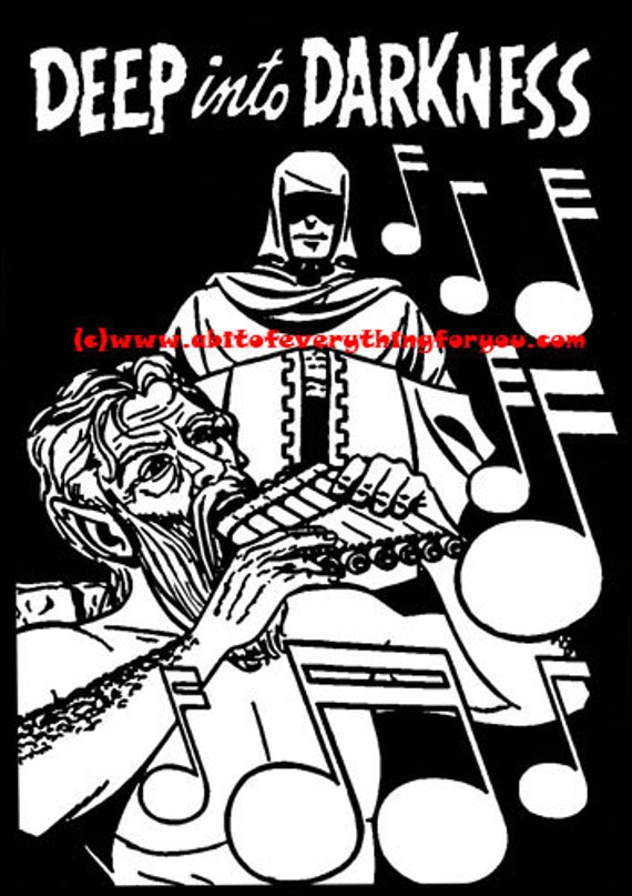 horror comics printable instant download vintage black and white comics art horror coloring page image graphics deep into darkness