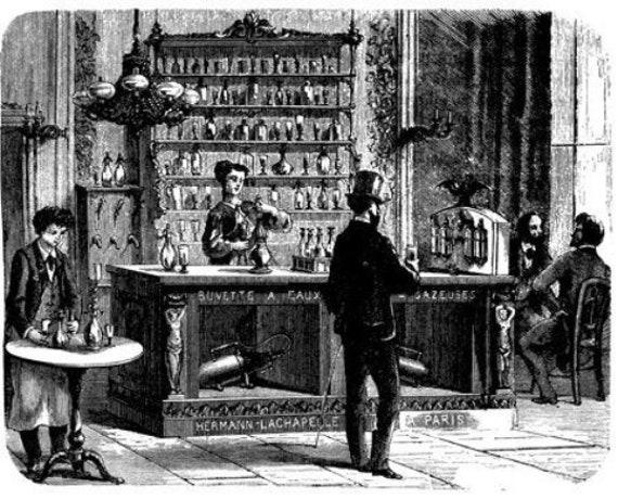 vintage 1800s french bar tavern victorian printable art print clipart png jpg download digital image graphics digital stamp black and white