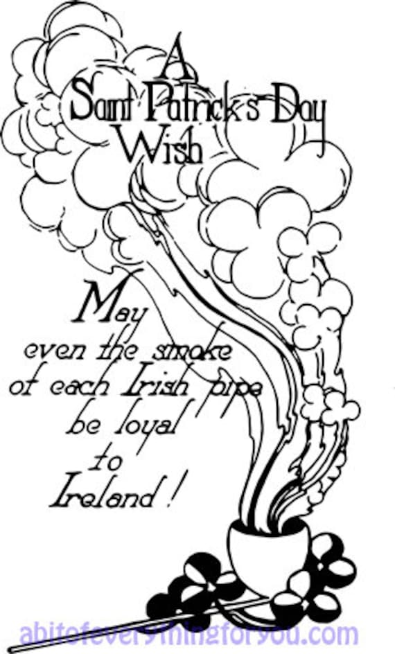 vintage Saint Patricks Day Irish wish art clipart digital download art downloadable st pattys day ireland graphic images printables