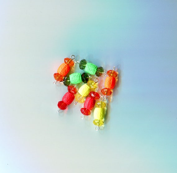 plastic crystal drops charms barrel bead pendants acrylic beads 8 piece jewelry beading stitch markers supplies lot