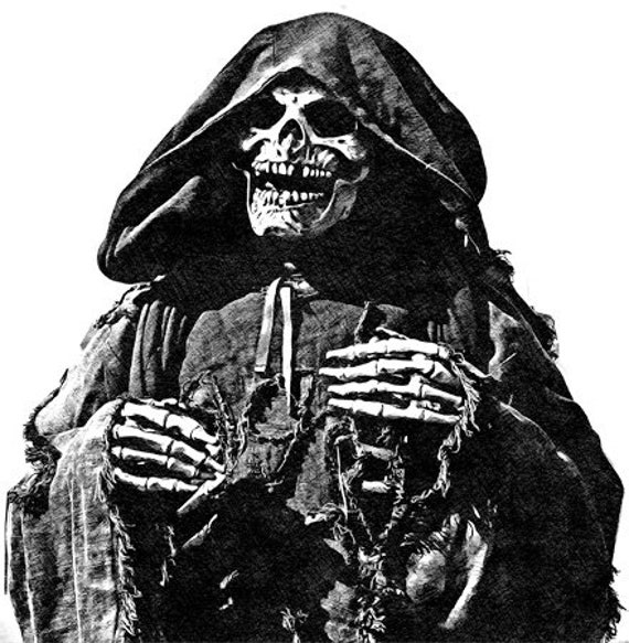 skeleton grimm reaper drawing skull printable art print png clipart transparent digital download image graphics downloadable day of dead