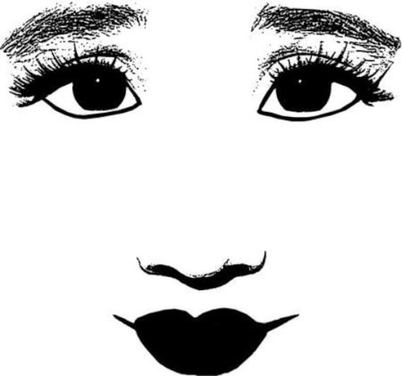 womans big innocent eyes face printable makeup art clipart png svg vector digital download face beauty image graphics black & white