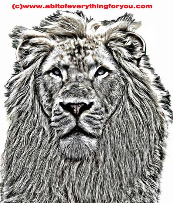 abstract lion art nursery Animal Print, Lion Wall Art, Kids Room Poster, home decor Printable art Gift Digital Download Black and White Lion