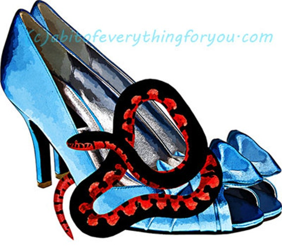 blue high heel shoes red snake art clipart png download digital image graphics printable downloadable fashion artwork