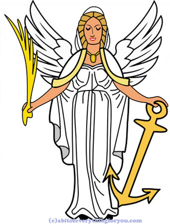guardian angel cartoon woman printable art clipart png jpg svg vector instant download silhouette digital downloadable image graphics