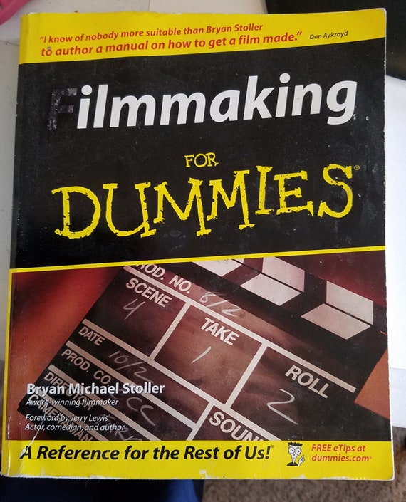 Filmaking For Dummies paper back book educational instructional books