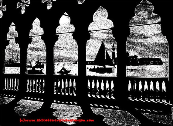 gazebo house seascape nautical ocean printable art print instant digital download image graphics black and white artwork
