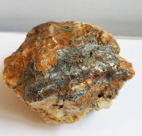 Quartz crystal Rock nugget stone gemstone Montana 10 oz raw snow quartz minerals healing feng shui natural decor