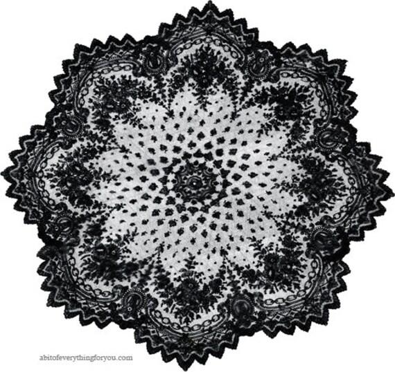black lace parasol printable art clipart png jpg digital download art image graphics designs black and white artwork