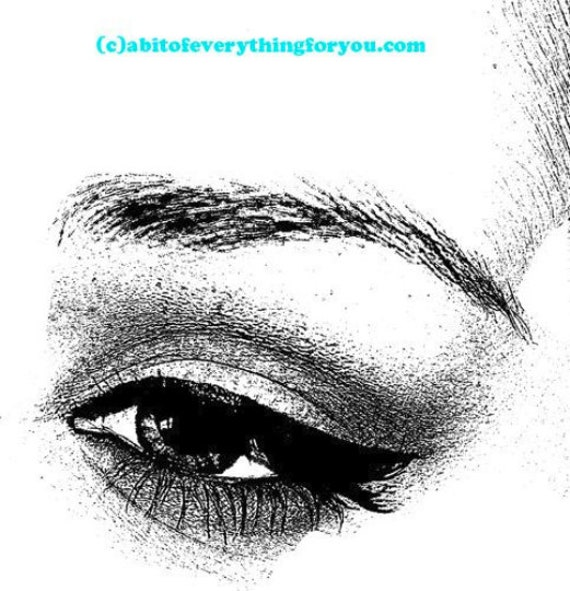 womans eye lashes makeup printable art print clipart png download digital image graphics instant downloadable black and white artwork