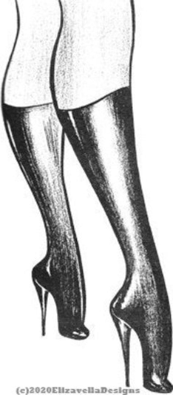 pinup girl legs high heels dominatrix S & M printable art clipart png erotica download digital image woman graphics