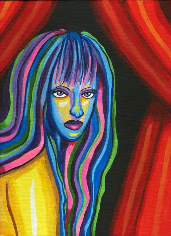 nude woman aura emotions chakra abstract art print wall modern home decor contemporary modern original abstract artwork