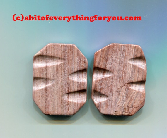 brown marble stone beads gemstone bead pendant stone charms 30mm x 40mm jewelry making supplies