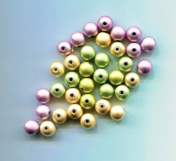 36 miracle pearl acrylic plastic beads 8mm mixed colors BEAD lot jewelry supply