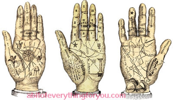 printable palm reading hands fortune teller art clipart png download digital vintage image graphics downloadable celestial artwork
