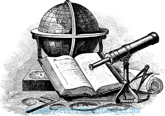 globe book telescope topography printable art clipart png download digital image downloadable vintage graphics digital stamp