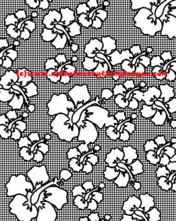 orchid flowers pattern checker pattern art coloring page printable art download digital colouring pages nature image graphics