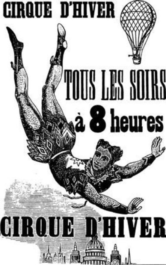 circus acrobat carnival vintage french poster printable art clipart png download digital image graphics digital stamp black and white