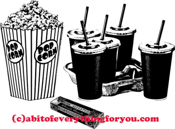 movie theater food printable wall art download clipart digital image jpg png graphics digital print food pictures home living room decor