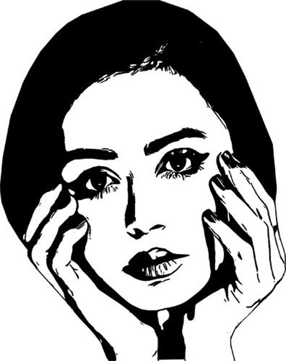 woman hands on face printable art print clipart png digital download image graphics modern beauty makeup downloadable file