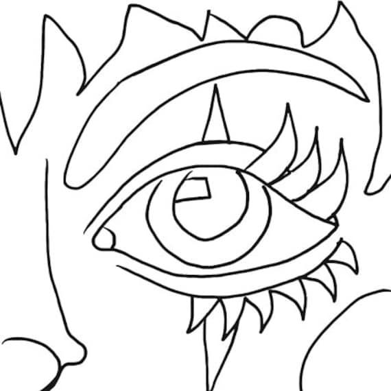 clown face girl printable art coloring page digital download art image graphics instant downloadable line art digital stamp