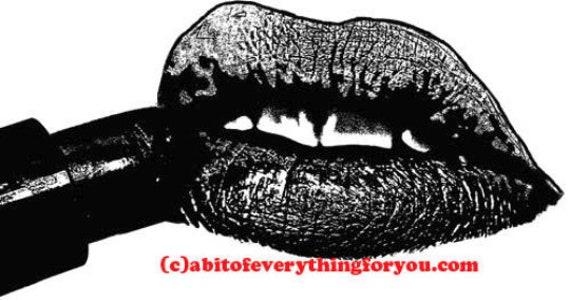 lips and black lipstick printable makeup art clipart png jpg downloadable digital download image graphics beauty cosmetics prints