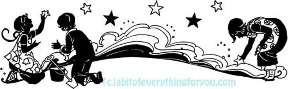 Star Children printable Fantasy art clipart png jpg instant download illustrations digital downloadable image graphics artwork