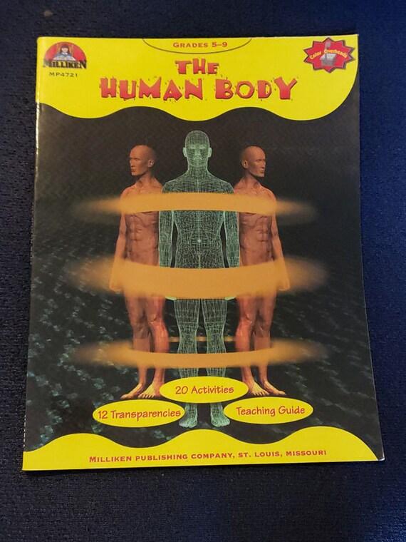 The Human Body Anatomy book grades 5-9 science 1986 vintage home school educational work books skeleton brain