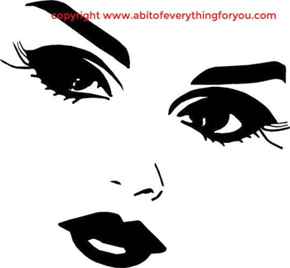 pretty lady eyes and lips printable art makeup clipart png download digital face beauty image graphics pinup girls digital stamp