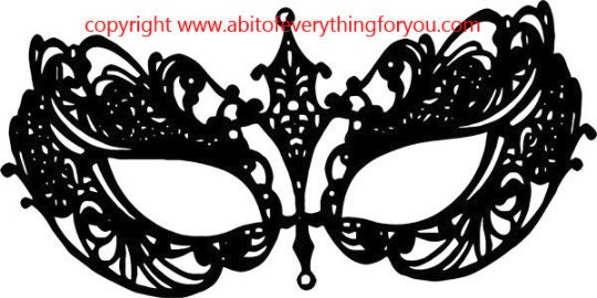 It is a photo of Printable Masquerade Mask Templates in butterfly