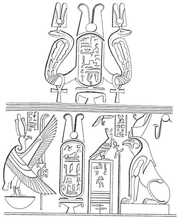 ancient Egypt hieroglyphics Wall art coloring page printable art download digital adult coloring pages egyptian line art image graphics