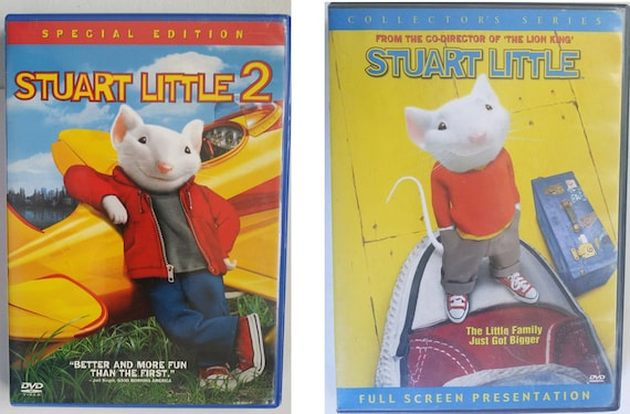 Stuart Little 1 and 2 DVD lot two movies fullscreen widescreen childrens family shows