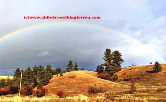 rainbow over mountain photograph print missoula montana nature landscape picture original outdoor photography