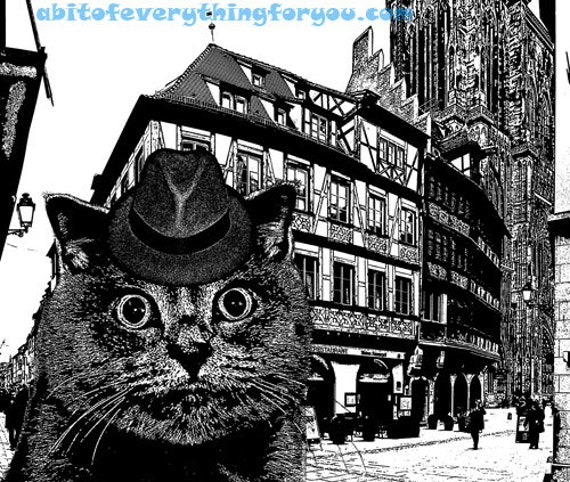 City Cat Germany Abstract art printable print png jpg clipart download digital image downloadable graphics animal pets black and white art