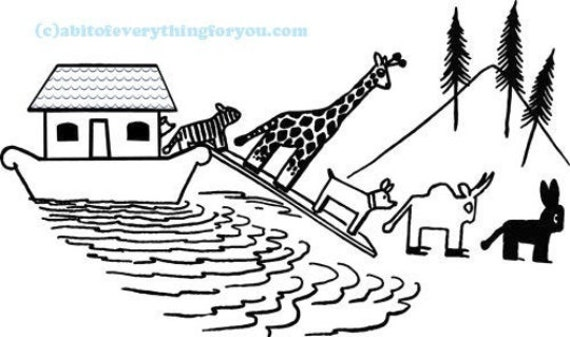 noahs ark animal printable art downloadable digital download png jpg image graphics clipart kids room nursery decor
