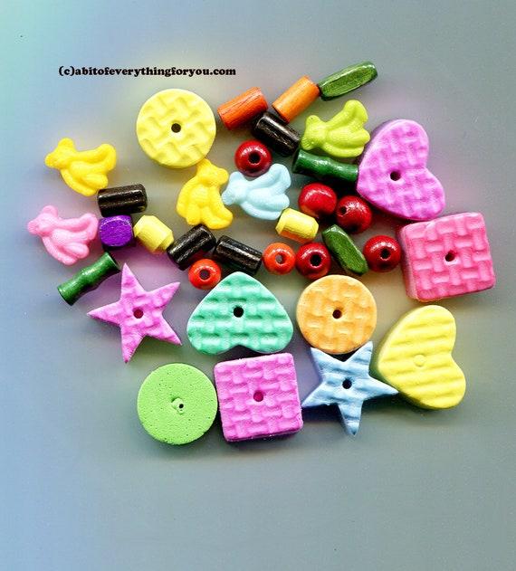 childrens foam beads plastic teddy bear charms childrens jewelry childrens craft