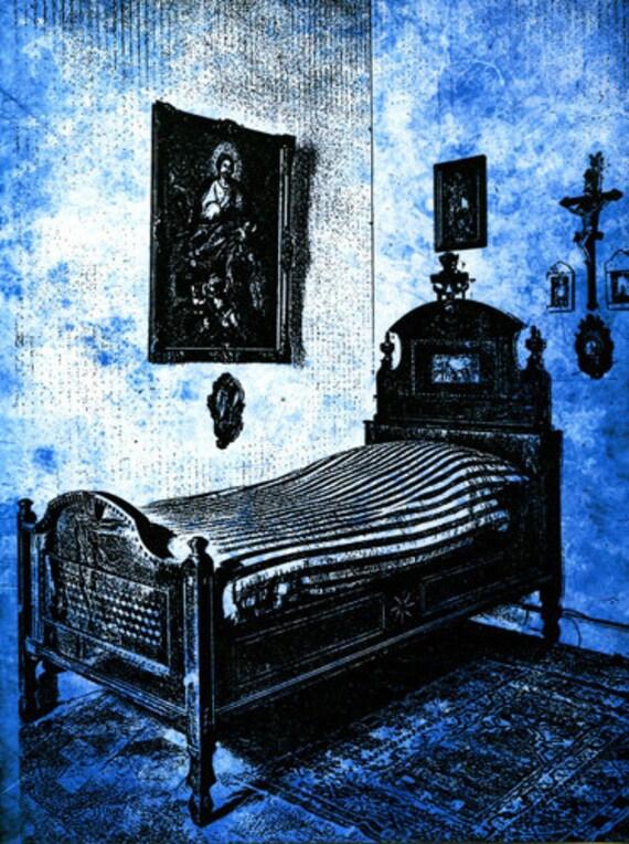Grandmas room is haunted original art print supernatural creepy digital artwork modern sci fi horror art