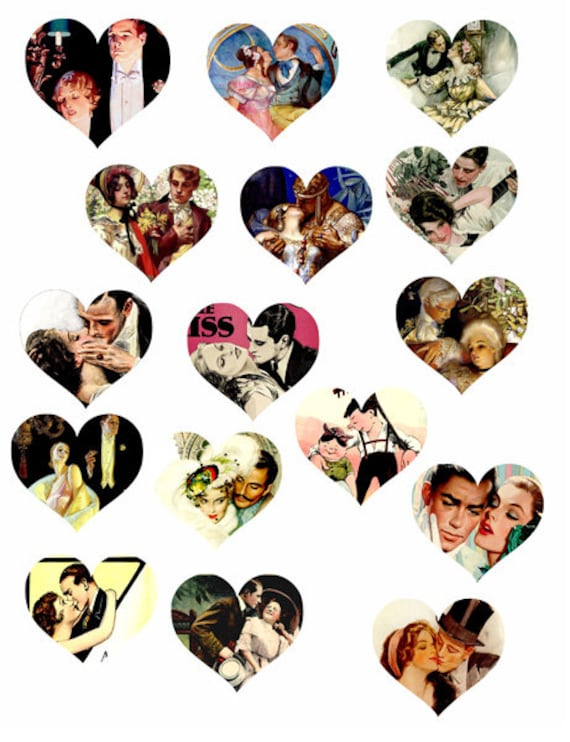 love throughout the ages hearts die cuts clipart digital instant download craft printables cut outs collage sheet lovers images scrapbooking