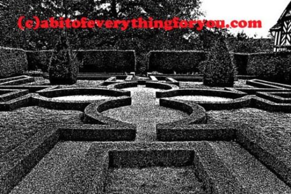Maze Garden Abstract Landscape printable art impressionist digital download art image graphics black and white digital prints home decor