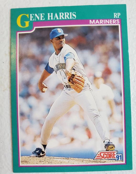Gene Harris Mariners 1991 Score Baseball Card vintage sports trading cards