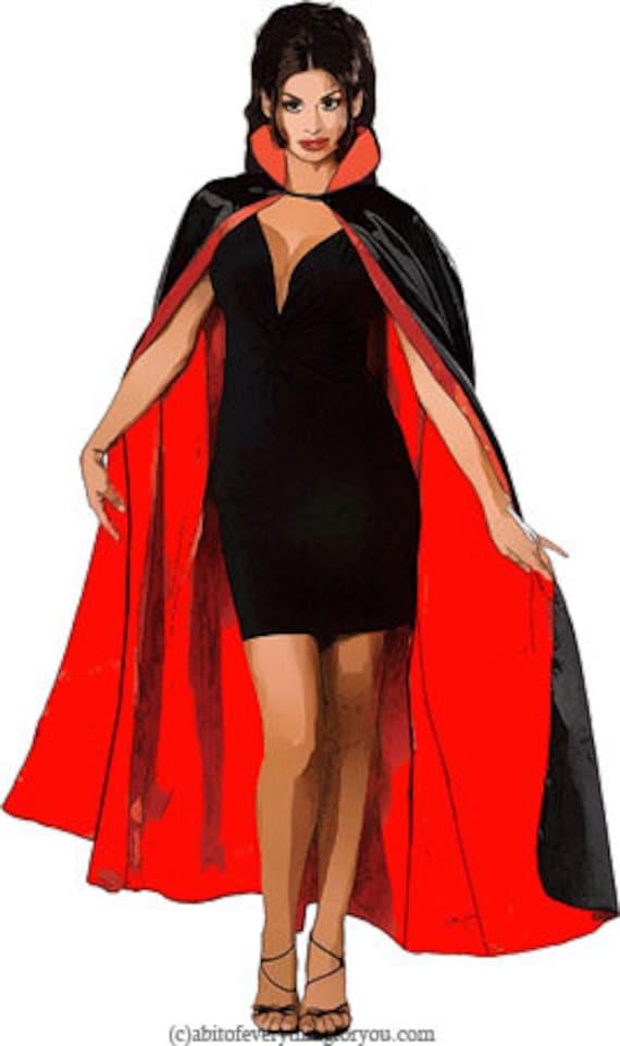 gothic vampire woman printable art clipart png jpg instant download halloween illustrations digital downloadable image graphics artwork