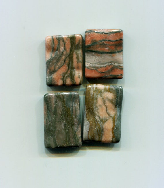 brown stone rectangle beads gemstone beads large stone beads brown and gray